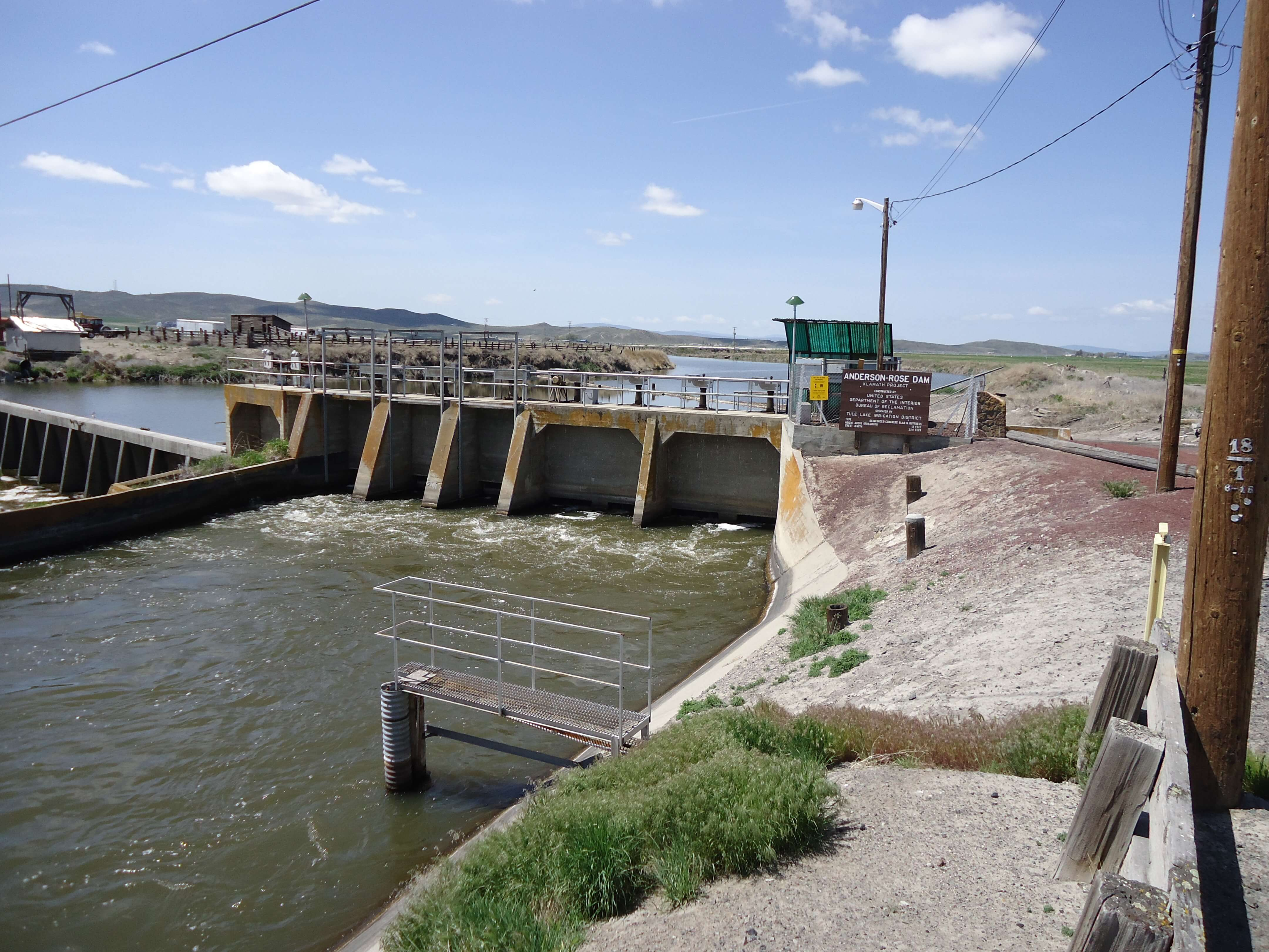 Anderson Rose Dam on the Oregon side of the Klamath Project